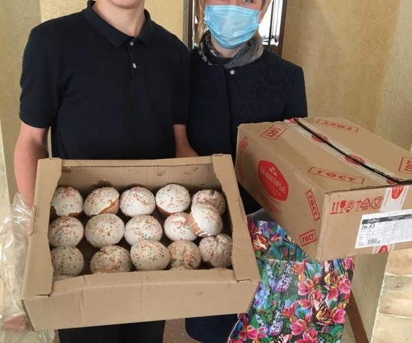 Поздравили ребят из Школы-интерната № 1 г.Донецка  с пасхальными праздниками1591813156