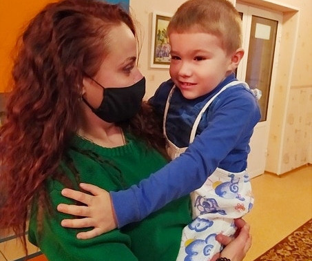 MARIA AFANASENKO, Head of the Foundation, visited the Chamber of Invalids, Baby Home, DONETSK1622891845