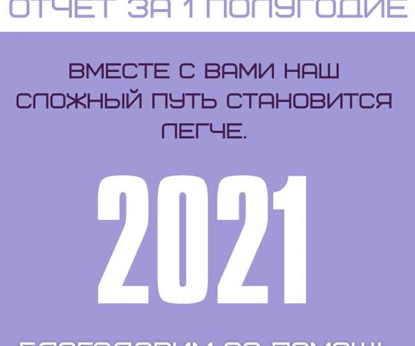 Отчет работы фонда за 1 полугодие 2021 года .1627560834