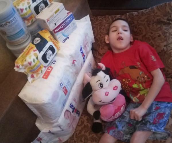 Благодаря другу наших деток -Ив Ванрой в этом месяце мы смогли помочь Дане жить без боли и мучений ,необходимыми лекарствами и специализированым питанием .1632145685